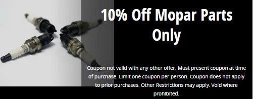 10% Off Mopar Parts Only